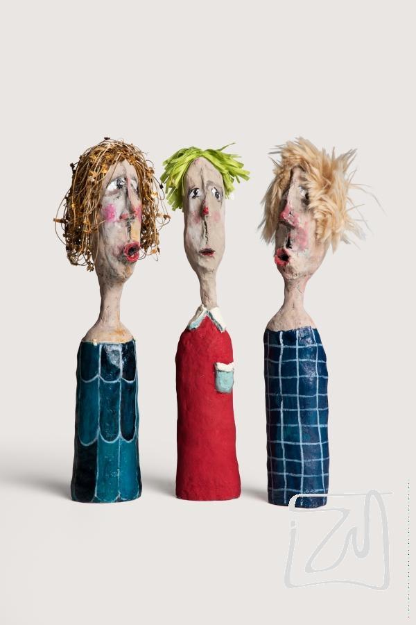 Jacinthe, Narcisse et Hortense | H35cm