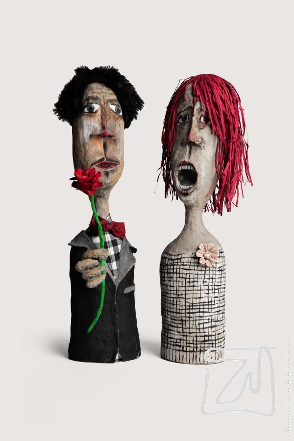 Giovanni et Séraphine | H60cm